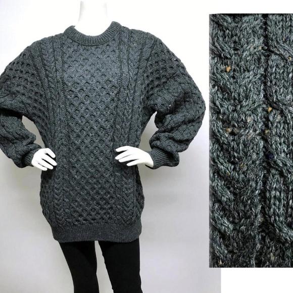 68376767284c25 Glencree Other - GLENCREE Ireland Wool Aran Fisherman Sweater XL